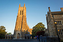 Sunrise at duke chapel and chapel quad