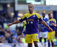 Pictured: Wayne Routledge of Swansea. Sunday 16 February 2014<br />