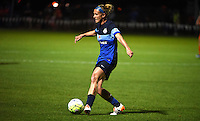 Kansas City, MO - Saturday May 07, 2016: FC Kansas City midfielder Jen Buczkowski (6) against Houston Dash during a regular season National Women's Soccer League (NWSL) match at Swope Soccer Village. Houston won 2-1.