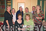 8860-8864.DRAMA GROUP: Majella Griffin (seated front left) president of the Spa/Fenit Irish Countrywomens Association (ICA) gladly accepts a cheque from Veronica Kelly of the Spa drama group Oisiri in the Oyster Tavern, the Spa last Friday night for up coming events, also in the photo are back l-r: Deirdra O'Mahony (ICA), Liz Browne, John Moriarty, Mike Moriarty, John Murrey and Maura McCarthy.