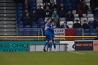 23rd November 2019; Caledonian Stadium, Inverness, Scotland; Scottish Championship Football, Inverness Caledonian Thistle versus Dundee Football Club; Aaron Doran of Inverness Caledonian Thistle is congratulated after scoring for 1-0 by David Carson  - Editorial Use