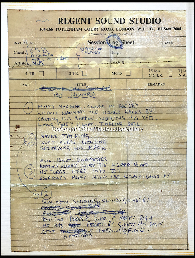 """BNPS.co.uk (01202 558833)<br /> Pic: SheffieldAuctionGallery/BNPS<br /> <br /> Postcards from a teenage Ozzy Osbourne to his parents have emerged nearly 50 years later.<br /> <br /> The notes addressed to """"mom and dad"""" were penned in 1968 when the Black Sabbath star, who later became a reality TV favourite, was 19 and touring Europe with one of his first bands. <br /> <br /> As well as updates on his general well-being, the postcards also reveal Osbourne's hopes of making it as big as The Beatles, his observation that the French didn't like his long hair and a romantic interest in a German girl called Sylvia."""