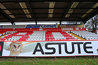 Astute signage during Stevenage vs Notts County, Sky Bet EFL League 2 Football at the Lamex Stadium on 11th November 2017