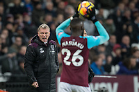 West Ham United Manager David Moyes shouts instructions to Arthur Masuaku of West Ham United during the Premier League match between West Ham United and Arsenal at the Olympic Park, London, England on 13 December 2017. Photo by Andy Rowland.