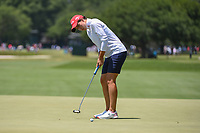 Carlota Ciganda (ESP) sinks her birdie putt on 4 during round 3 of the 2019 US Women's Open, Charleston Country Club, Charleston, South Carolina,  USA. 6/1/2019.<br /> Picture: Golffile | Ken Murray<br /> <br /> All photo usage must carry mandatory copyright credit (© Golffile | Ken Murray)