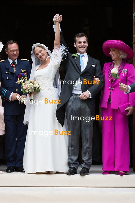 Princesse Alix de Ligne &amp; Guillaume de Dampierre - Mariage de la Princesse Alix de Ligne et Guillaume de Dampierre, en l'&eacute;glise Saint-Pierre &agrave; Beloeil, en Belgique.<br /> Belgique, Beloeil, 18 juin 2016<br /> Princess Alix de Ligne &amp; Guillaume de Dampierre - Wedding of Princess Alix de Ligne and Guillaume de Dampierre, in Beloeil, Belgium.<br /> Belgium, Beloeil, 18 June 2016