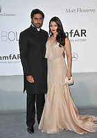 Aishwarya Rai &amp; husband Abhishek Bachchan  at the 21st annual amfAR Cinema Against AIDS Gala at the Hotel du Cap d'Antibes.<br /> May 22, 2014  Antibes, France<br /> Picture: Paul Smith / Featureflash