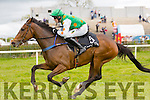 Winner of the Gerard Griffin Builder's North Kerry Harriers Hunt Club maiden race for 4year old's was no 5 Monbeg in the First race at  the The North Kerry Harriers Point to Point in Ballybeggan Racecourse on Saturday