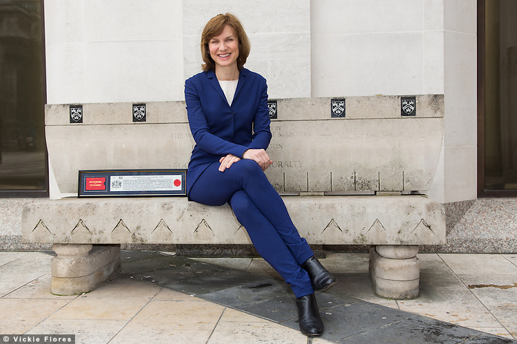 Fiona Bruce, journalist, newsreader and television presenter receives the Freedom of the City of London in recognition of International Women's Day and her involvement with Refuge, the national domestic violence charity at the Guildhall in London on March 7th, 2014.