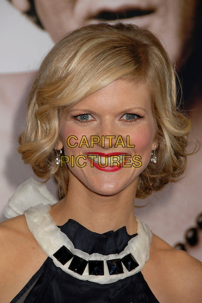 "ARDEN MYRIN.""Walk Hard: The Dewey Cox Story"" Los Angeles Premiere at Grauman's Chinese Theatre, Hollywood, California, USA..December 12th, 2007.headshot portrait red lipstick jewel encrusted white collar black .CAP/ADM/BP.©Byron Purvis/AdMedia/Capital Pictures."