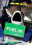 02 Apr 2009, Kuala Lumpur, Malaysia ---   Sign reading 'Fuel in' is placed on the a AT&T Williams car during the 2009 Fia Formula One Malasyan Grand Prix at the Sepang circuit near Kuala Lumpur. Photo by Victor Fraile --- Image by © Victor Fraile / The Power of Sport Images
