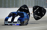 Feb. 10, 2012; Pomona, CA, USA; NHRA pro mod driver XXXX during qualifying at the Winternationals at Auto Club Raceway at Pomona. Mandatory Credit: Mark J. Rebilas-