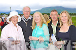 Looking for winners at the Killarney races on Tuesday was l-r: Valarie, Tom Mannix, Fiona Mackay, Eric Moloney and Valarie Mannix