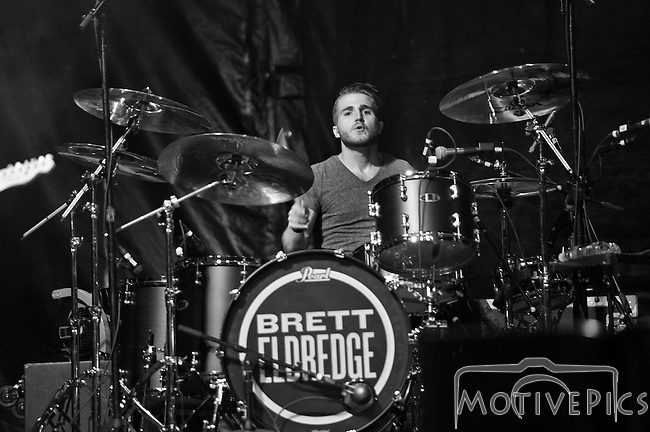 Brett Eldredge playing at Black Diamond Harley Davidson on 9/19/2014.