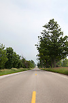 Country road on Old Mission Peninsula, Lake Michigan, Traverse City area, Michigan, MI, USA