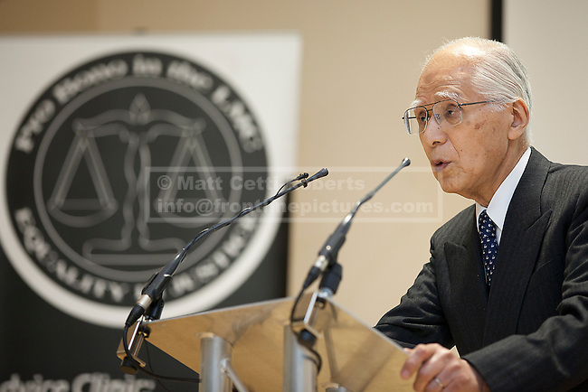 © Licensed to London News Pictures. 20/01/2012. LONDON, UK. The president of the International Courts of Justice (ICJ), Hisashi Owada, during a talk he gave at the London Muslim Centre in East London today (20/01/12). Photo credit: Matt Cetti-Roberts/LNP