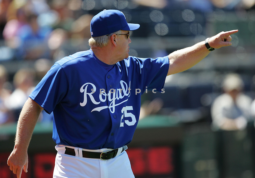 Buddy Bell, of the Kansas City Royals , in action against the Texas Rangers on June 5, 2005...Rangers win 8-1...Dilip Vishwanat / SportPics