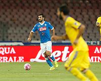 Raul Albiol   durante l'incontro di calcio di Serie A   Napoli -Sampdoria allo  Stadio San Paolo  di Napoli , 30 Agosto 2015