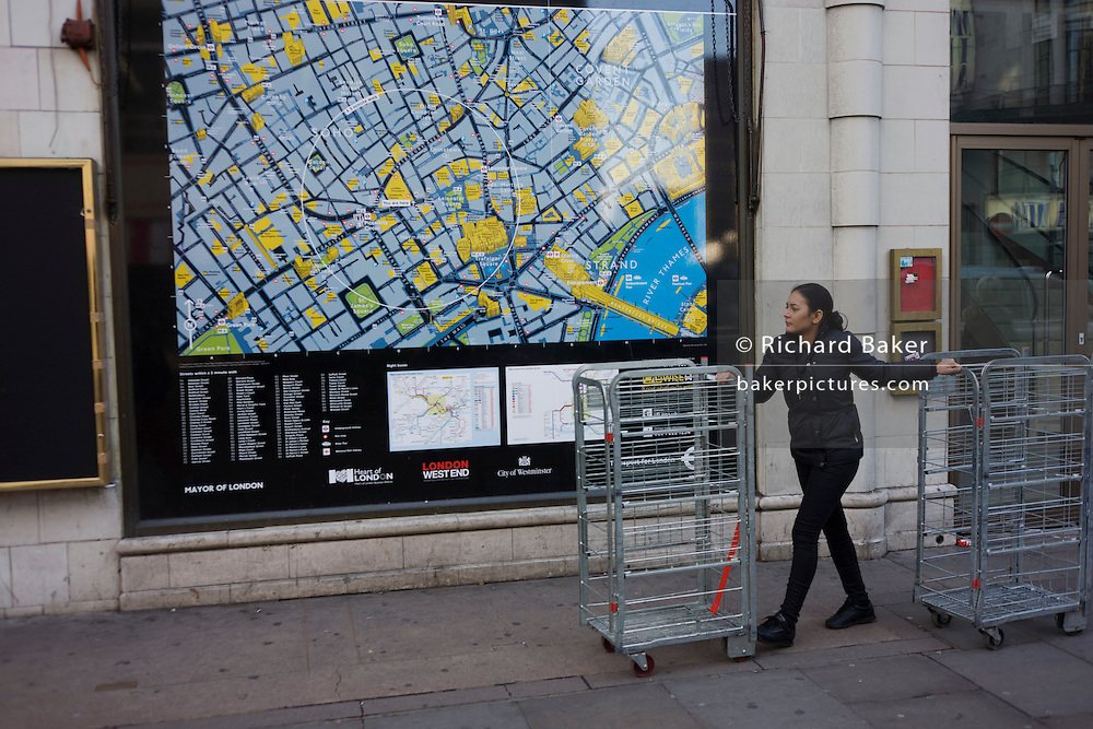 Street Map London West End.Uk London Street Map And Retail Cage Girl Richard Baker