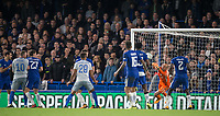 Goalkeeper Wilfredo Caballero of Chelsea pulls of a great save during the Carabao Cup round of 16 match between Chelsea and Everton at Stamford Bridge, London, England on 25 October 2017. Photo by Andy Rowland.