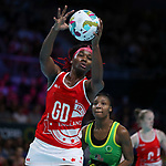 29/10/17 Fast5 2017<br /> Fast 5 Netball World Series<br /> Hisense Arena Melbourne<br /> Grand Final Jamaica v England<br /> Ama Agbeze<br /> <br /> <br /> <br /> <br /> <br /> Photo: Grant Treeby