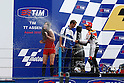 June 26, 2010 - Assen, Holland - Dani Pedrosa celebrates on the podium of the Duch Grand Prix    at Assen, Holland, on June 26, 2010. (Photo Andrew Northcott/Nippon News).