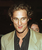 """Matthew McConaughey arrives at the Warner Theatre for the Washington, D.C. Premiere of his latest movie """"Amistad"""" on December 4, 1997..Credit: Ron Sachs / CNP"""