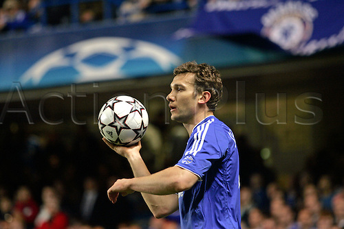 4 April 2007: Portrait of Chelsea striker Andriy Shevchenko  during the UEFA Champions League quarter final first leg, between Chelsea and Valencia played at Stamford Bridge. The game ended in a 1-1 draw Photo: Glyn Kirk/Action Plus...soccer football 070404  player