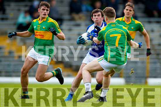 Robert Wharton South Kerry in action against Ryan Carroll Kerins O'Rahillys in the Kerry Senior Football Championship Semi Final at Fitzgerald Stadium on Saturday.