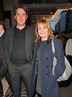 Adrian Lukis and Caroline Langrishe at the &quot;Quiz&quot; press night, Noel Coward Theatre, St Martin's Lane, London, England, UK, on Tuesday 10 April 2018.<br /> CAP/CAN<br /> &copy;CAN/Capital Pictures