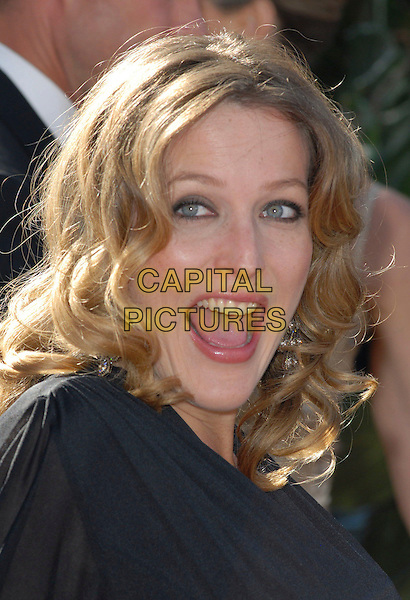 GILLIAN ANDERSON.58th Annual Primetime Emmy Awards held at the Shrine Auditorium, Los Angeles, California, USA..August 27th, 2006.Ref: ADM/CH.headshot portrait mouth open.www.capitalpictures.com.sales@capitalpictures.com.©Charles Harris/AdMedia/Capital Pictures.