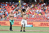 2nd February 2019, Spotless Stadium, Sydney, Australia; HSBC Sydney Rugby Sevens; fans in fancy dress enjoying the games