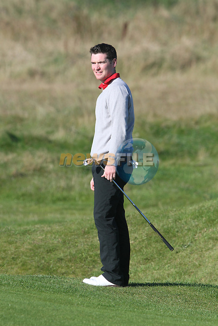 Day two of the Irish PGA championship at Seapoint Golf Club, Paul McCanny on the 10th tee..Picture Jenny Matthews/Newsfile.ie