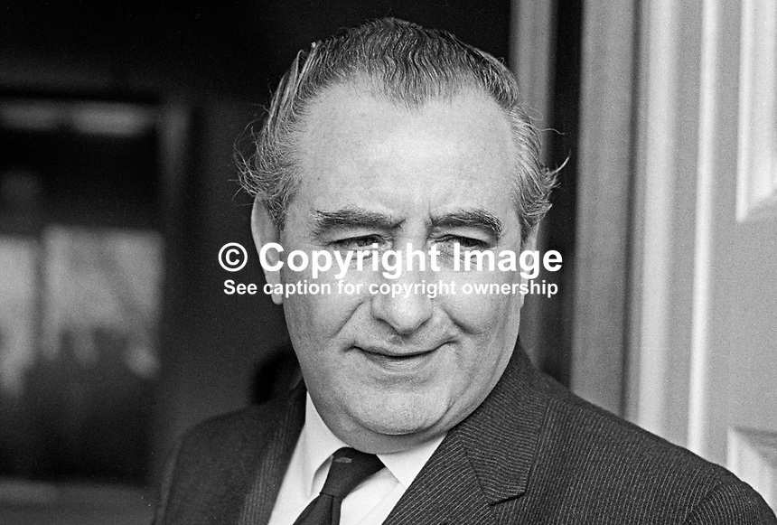Jim Baillie, secretary, Ulster Unionist Party, N Ireland, UK, February 1969. 196902000028<br />