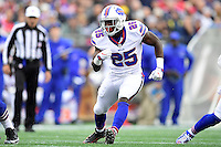 Sunday, October 2, 2016: Buffalo Bills running back LeSean McCoy (25) in game action during the NFL game between the Buffalo Bills and the New England Patriots held at Gillette Stadium in Foxborough Massachusetts. Buffalo defeats New England 16-0. Eric Canha/Cal Sport Media