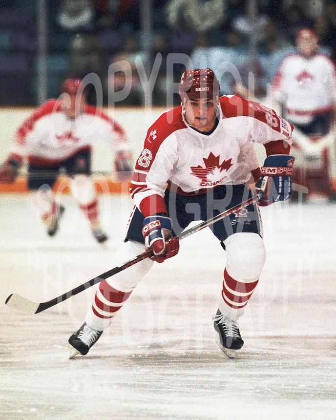 Eric Lindros Team Canada 1991. Photo copyright F. Scott Grant