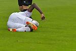 20.07.2018, Zillertalarena, Zell am Ziller, AUT, FSP, 1.FBL, SV Werder Bremen (GER) vs 1. FC Koeln (GER), im Bild<br /> Sehrou Guirassy (Koeln #19) nach einem das Schauspiel des Verletzte<br /> <br /> Foto © nordphoto / Kokenge
