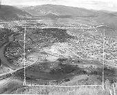 Elevated view of Durango from Smelter Mountain.<br /> D&amp;RGW  Durango, CO