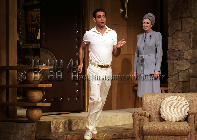 Bobby Cannavale & Brenda Wehle during the Curtain Call for the Roundabout Theatre Company's Broadway Production of 'The Big Knife' at the American Airlines Theatre in New York City on 4/16/2013...