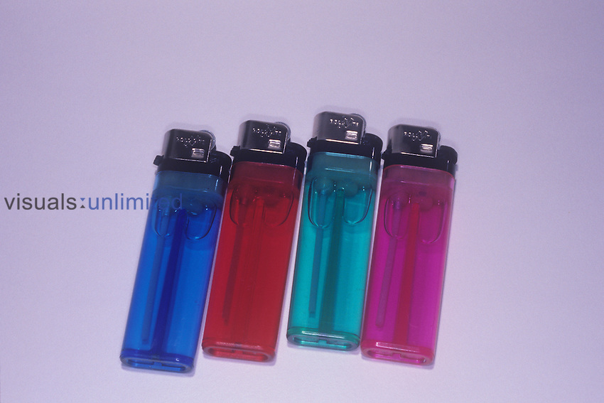 Butane lighters. Butane (C4H10) is a flammable, easily liquified gas that is also commonly used as a fuel in gas stoves.