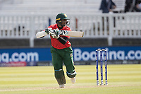 Shakib Al Hasan (Bangladesh) drives through port and sets off for a run during Pakistan vs Bangladesh, ICC World Cup Cricket at Lord's Cricket Ground on 5th July 2019