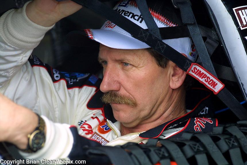 Dale Earnhardt is shown during qualifying for the Daytona 500, Daytona International Speedway, Daytona Beach, FL, February, 2001.  (Photo by Brian Cleary/www.bcpix.com)