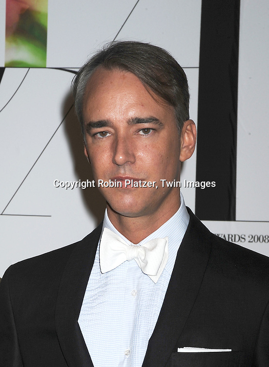 Michael Bastian.posing for photographers at The 2008 CFDA Fashion Awards on June 2, 2008 at The New York Public Library in .New York City. ..Robin Platzer, Twin Images