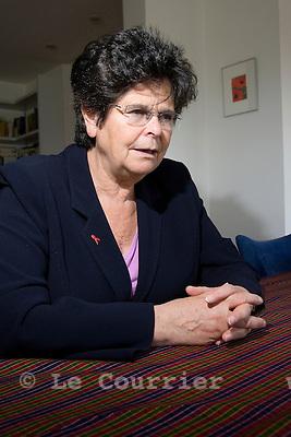 Genève, le 01.10.2008.Mme. Ruth Dreifuss, ancienne présidente de la confédération..© Le Courrier / J.-P. Di Silvestro