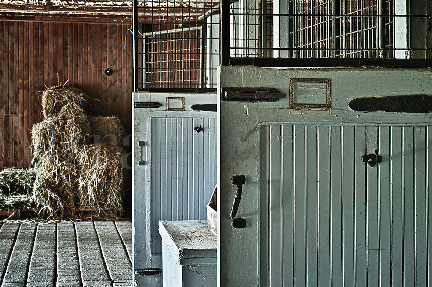 Rustic stable doors and interior.