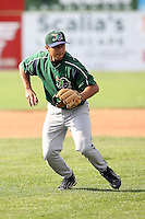 June 23rd 2008:  Infielder Mike Pasek of the Jamestown Jammers, Class-affiliate of the Florida Marlins, during a game at Dwyer Stadium in Batavia, NY.  Photo by:  Mike Janes/Four Seam Images