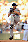 25 August 2007:  Washington Nationals starting pitcher Tim Redding on the mound against the Colorado Rockies at Coors Field in Denver, Colorado. The Rockies defeated the Nationals 5-1 in the second game of their 3-game series...Mandatory Photo Credit: Ed Wolfstein Photo