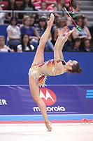 September 13, 2018 - Sofia, Bulgaria - KATSIARYNA HALKINA of Belarus performs at 2018 World Championships.