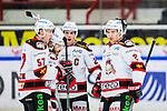 S&ouml;dert&auml;lje 2014-10-23 Ishockey Hockeyallsvenskan S&ouml;dert&auml;lje SK - Malm&ouml; Redhawks :  <br /> Malm&ouml; Redhawks Nils Andersson firar sitt 1-1 m&aring;l med Johan Ivarsson , Joey Tenute och Henrik Hetta <br /> (Foto: Kenta J&ouml;nsson) Nyckelord: Axa Sports Center Hockey Ishockey S&ouml;dert&auml;lje SK SSK Malm&ouml; Redhawks jubel gl&auml;dje lycka glad happy