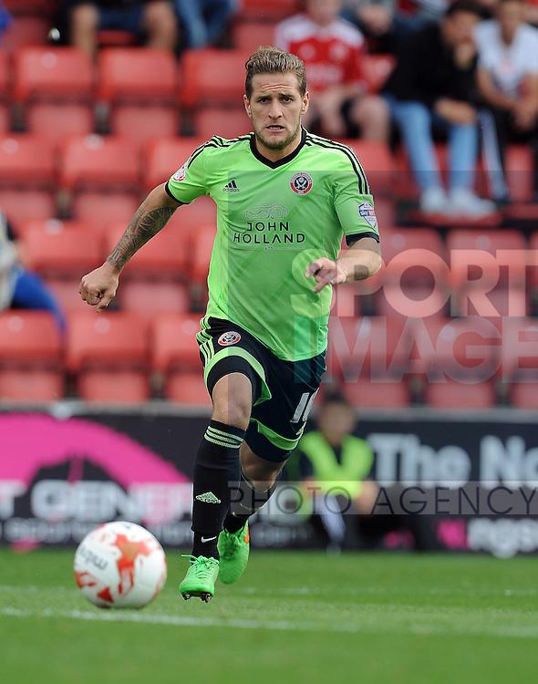 Billy Sharp of Sheffield United<br /> - English League One - Swindon Town vs Sheffield Utd - County Ground Stadium - Swindon - England - 29th August 2015